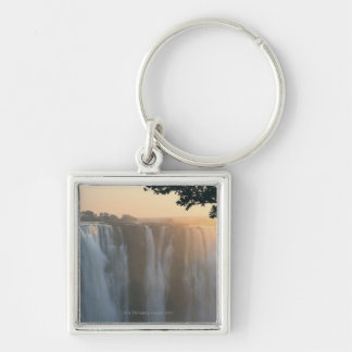 Victoria Falls, Zimbabwe, Africa Silver-Colored Square Key Ring