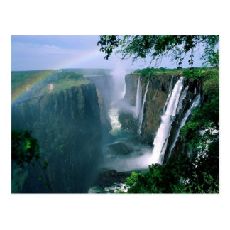 victoria falls, zimbabwe postcard
