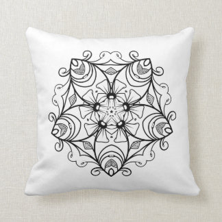 VICTORIA flower | beautiful floral pattern Throw Pillow