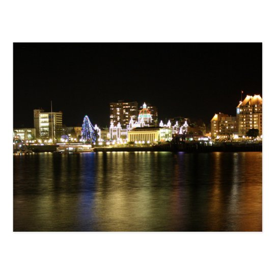 Victoria Harbour Lights Postcard
