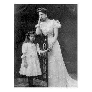 Victoria Melita of Hessen with Elizabeth #006D Postcard