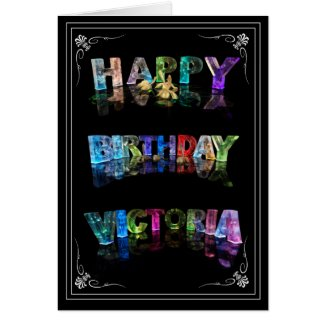 Victoria - Name in Lights greeting card (Photo)