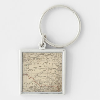 Victoria, New South Wales Silver-Colored Square Key Ring