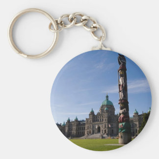 Victoria Parliament Building 1 Basic Round Button Key Ring