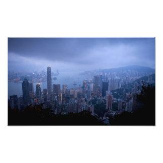Victoria Peak, Hong Kong. Photographic Print