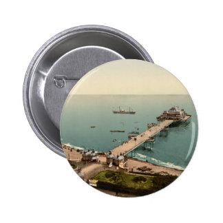 Victoria Pier, Folkestone, Kent, England 6 Cm Round Badge