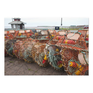 Victoria, Prince Edward Island. Crab pots Photographic Print
