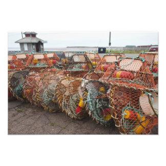 Victoria, Prince Edward Island. Crab pots Photographic Print