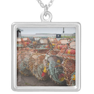 Victoria, Prince Edward Island. Crab pots Silver Plated Necklace