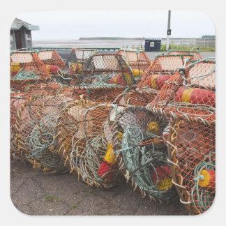 Victoria, Prince Edward Island. Crab pots Square Sticker