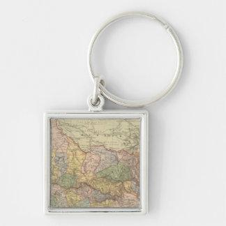 Victoria Silver-Colored Square Key Ring