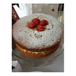 Victoria Sponge Cake Postcard