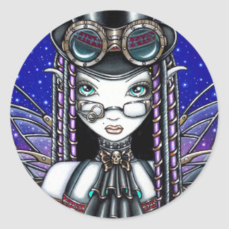 """Victoria"" Steam Punk Faerie Art Stickers"