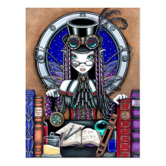 Victoria Steam Punk Faerie Postcard
