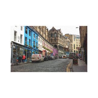 Victoria Street Edinburgh, Scotland Stretched Canvas Prints