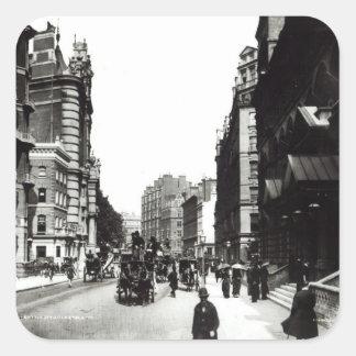 Victoria Street, London, c.1890 Square Sticker