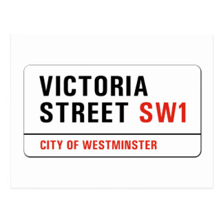Victoria Street, London Street Sign Postcard