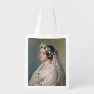 Victoria, the bride. reusable grocery bag