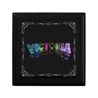 Victoria - The Name Victoria in 3D Lights (Photog Keepsake Box