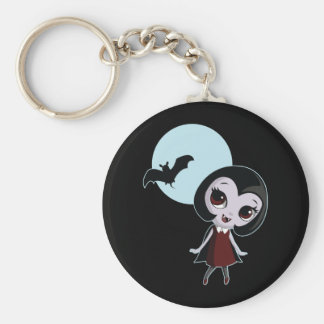 Victoria the Vampire Basic Round Button Key Ring