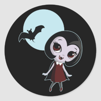 Victoria the Vampire Classic Round Sticker