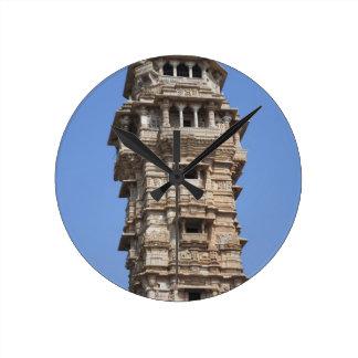 Victoria Tower in Chittorgarh Fort, India Round Clock