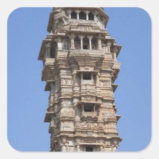 Victoria Tower in Chittorgarh Fort, India Square Sticker