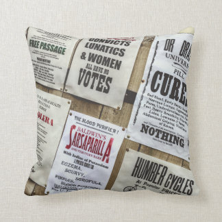 Victorian Advertising Cushion