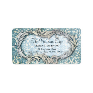 Victorian Aesthetic Damask Address Labels