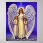 Victorian angel art poster girls children guardian