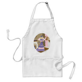 Victorian Angel Blue and Pink Singing by Fireplace Adult Apron