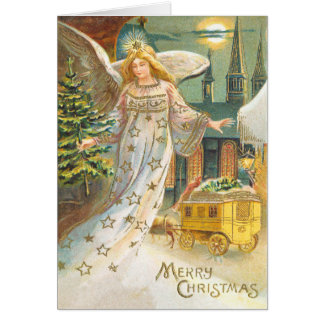 Victorian Angel Christmas Card