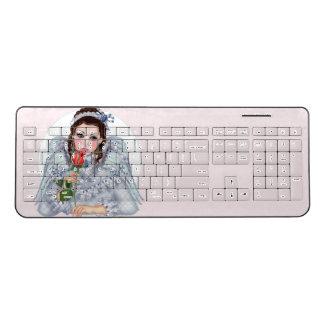 VICTORIAN ANGEL Custom Wireless Keyboard
