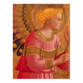 Victorian Angel in Pink Postcard
