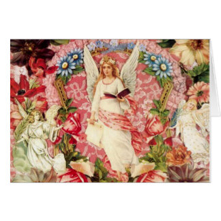 Victorian Angels and Flowers Collage Card