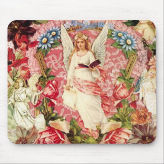 Victorian Angels and Flowers Mousepad