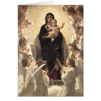 Victorian Angels, Regina Angelorum by Bouguereau Card