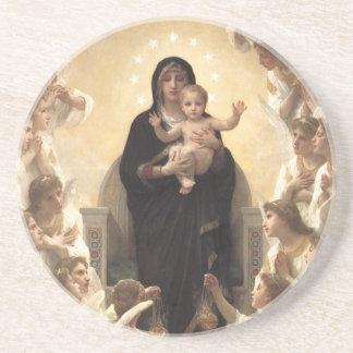 Victorian Angels, Regina Angelorum by Bouguereau Sandstone Coaster