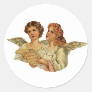 Victorian Angels singing stickers