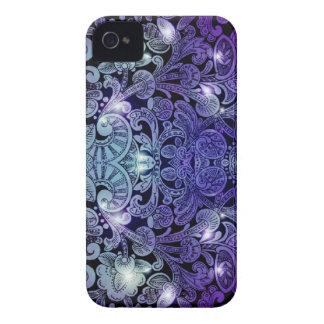 Victorian Arabesque, ALAMEDA - Navy & Purple iPhone 4 Case