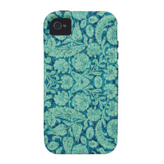 Victorian Arabesque, CANTARA in Teal & Aqua Case-Mate iPhone 4 Covers