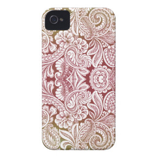 Victorian Arabesque, HALYDON - Cream & Brown iPhone 4 Cover