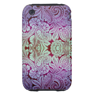 Victorian Arabesque, HALYDON - Lavender & Plum iPhone 3 Tough Covers