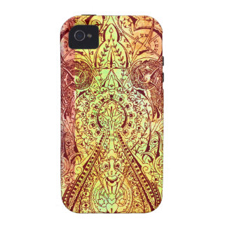 Victorian Arabesque, KASBAH - Brown & Yellow Vibe iPhone 4 Covers