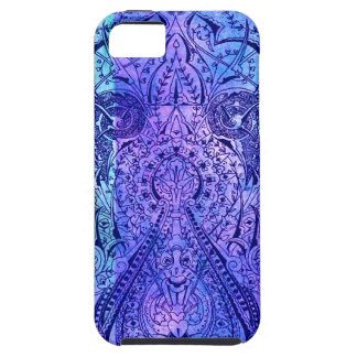 Victorian Arabesque, KASBAH - Navy & Cyan iPhone 5 Case