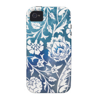 Victorian Arabesque, LADY CIARA - Blue & White iPhone 4/4S Covers