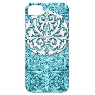 Victorian Arabesque, MAGIC CARPET in Teal & Aqua iPhone 5 Cases