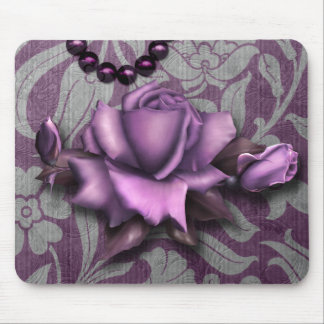 Victorian Arabesque, METALLIC ROSE - Mauve Mouse Pad
