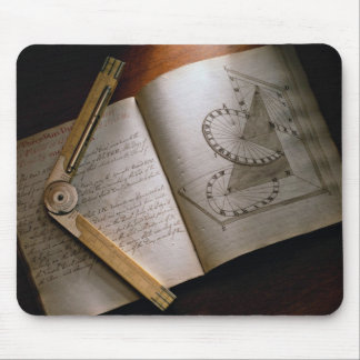Victorian architect's calculus manual and ruler mouse mat