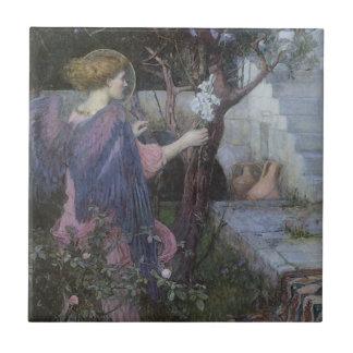 Victorian Art, Annunciation by JW Waterhouse Tile